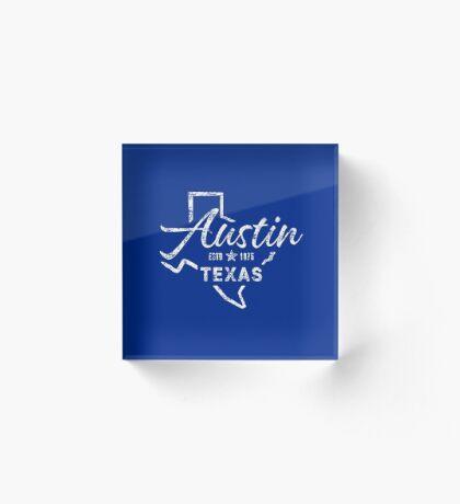 Austin Texas Acrylic Block