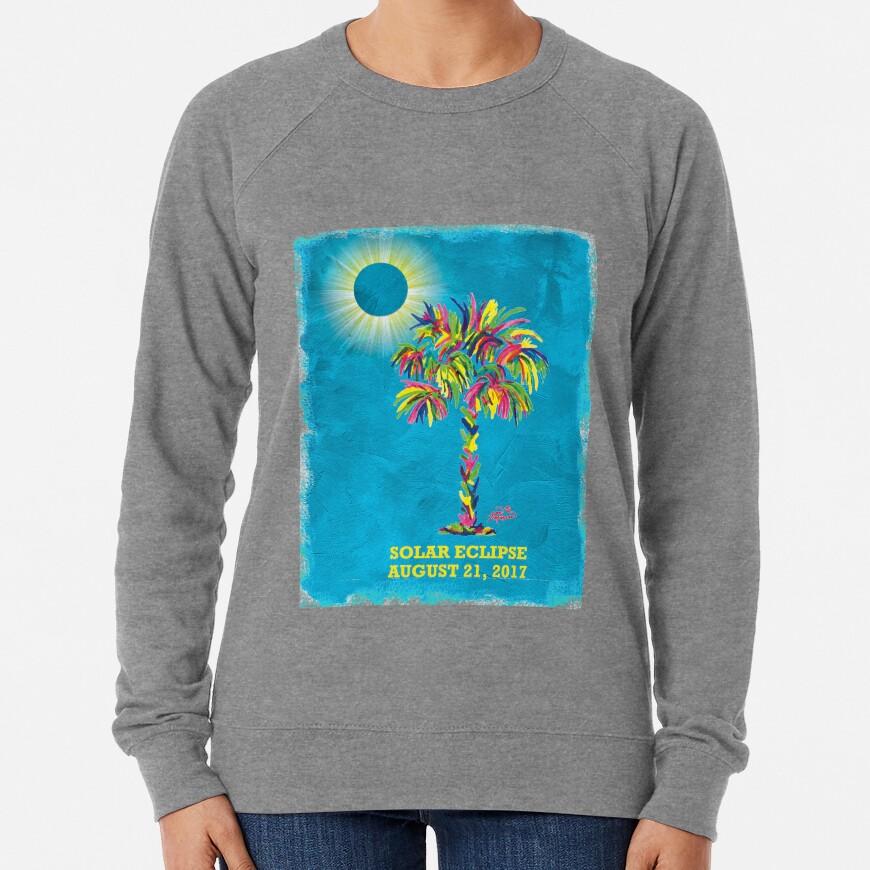 Solar Eclipse 2017 Lightweight Sweatshirt