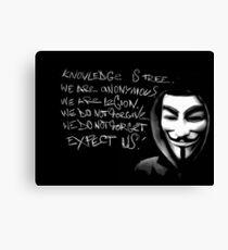 Anonymous slogan Canvas Print