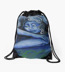 RABBIT DREAMING Drawstring Bag