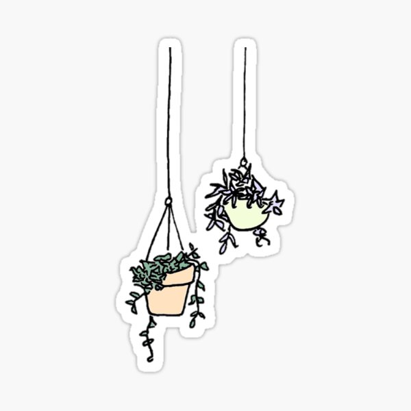 hanging planters Sticker