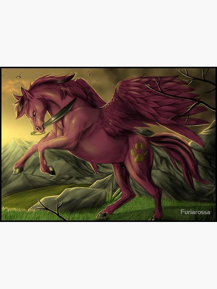 Blank Pegasus Rising Pegasus Cards Pegasus Art Greeting Cards Pegasus Art Cards