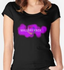 mALLORY kNOX sprayed and wired Women's Fitted Scoop T-Shirt