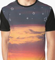 Florida Sunset - Star Design Graphic T-Shirt