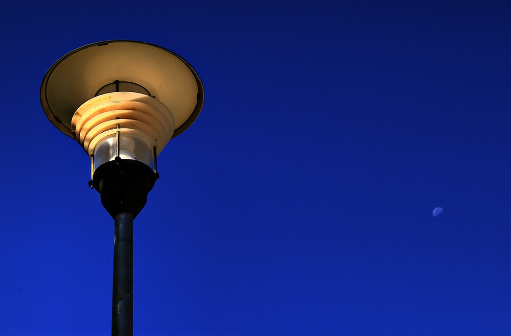 Lamp and Moon by PhotoMula