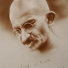 Gandhi by marcelfineart