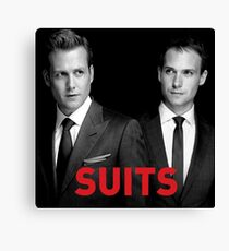 Suits Harvey and Mike Canvas Print