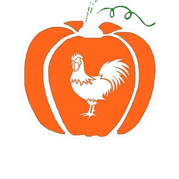 Halloween Pumpkin Rooster by mashingTees