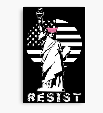 Lady Liberty Pink Protest Canvas Print