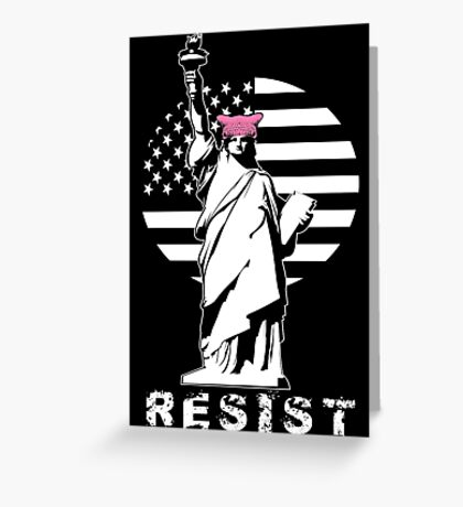 Lady Liberty Pink Protest Greeting Card