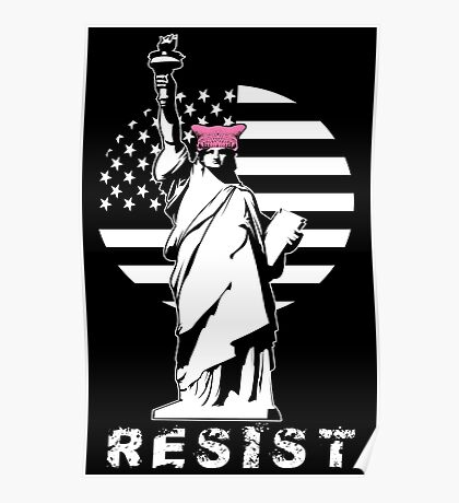 Lady Liberty Pink Protest Poster