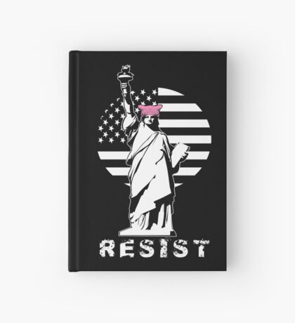 Lady Liberty Pink Protest Hardcover Journal
