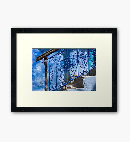 Brown on Blue Framed Print