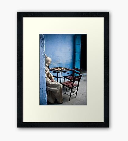 Solitary Chess Player Framed Print