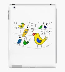 Birds Singing on a Wire iPad Case/Skin