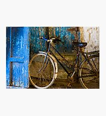 Blue Bicycle Photographic Print