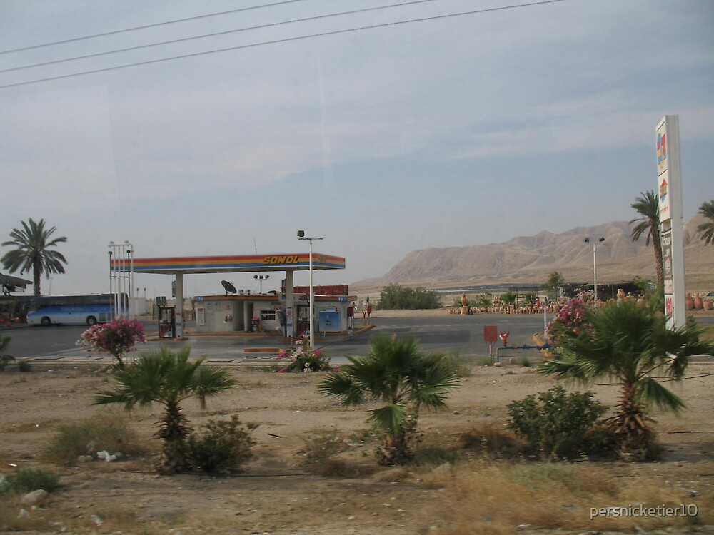 Gas Station in the Desert by persnicketier10