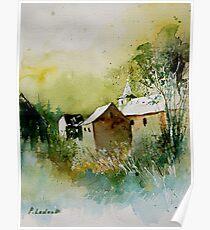 watercolor sosoye belgium Poster
