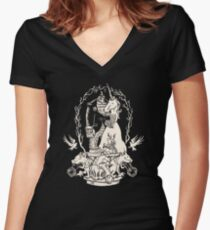 Bigfoot's Big Day : Groomsmen's Edition Women's Fitted V-Neck T-Shirt