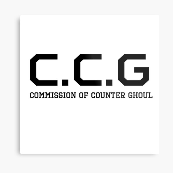 C.C.G - Commission of Counter Ghoul - Tokyo Ghoul - logo Metal Print