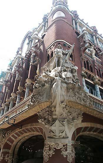 Plaza of Catalan Music in Barcelona, Spain by chord0