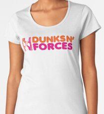 DUNKS N' FORCES Women's Premium T-Shirt
