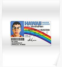 Fogell(McLovin') Fake ID- Superbad Poster