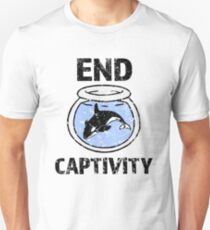 End Captivity Shirt - Befreien Sie das Schwertwal-Wal-Hemd Slim Fit T-Shirt
