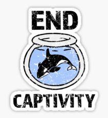 End Captivity Shirt - Free the Orca Whales Shirt Sticker