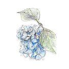 Blue flower by Yana Art