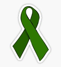 Green Awareness Ribbon Sticker