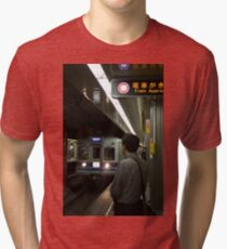 Train approaching, Tokyo, Japan Tri-blend T-Shirt