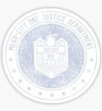 Mega-City One Justice Department (Dredd) Sticker