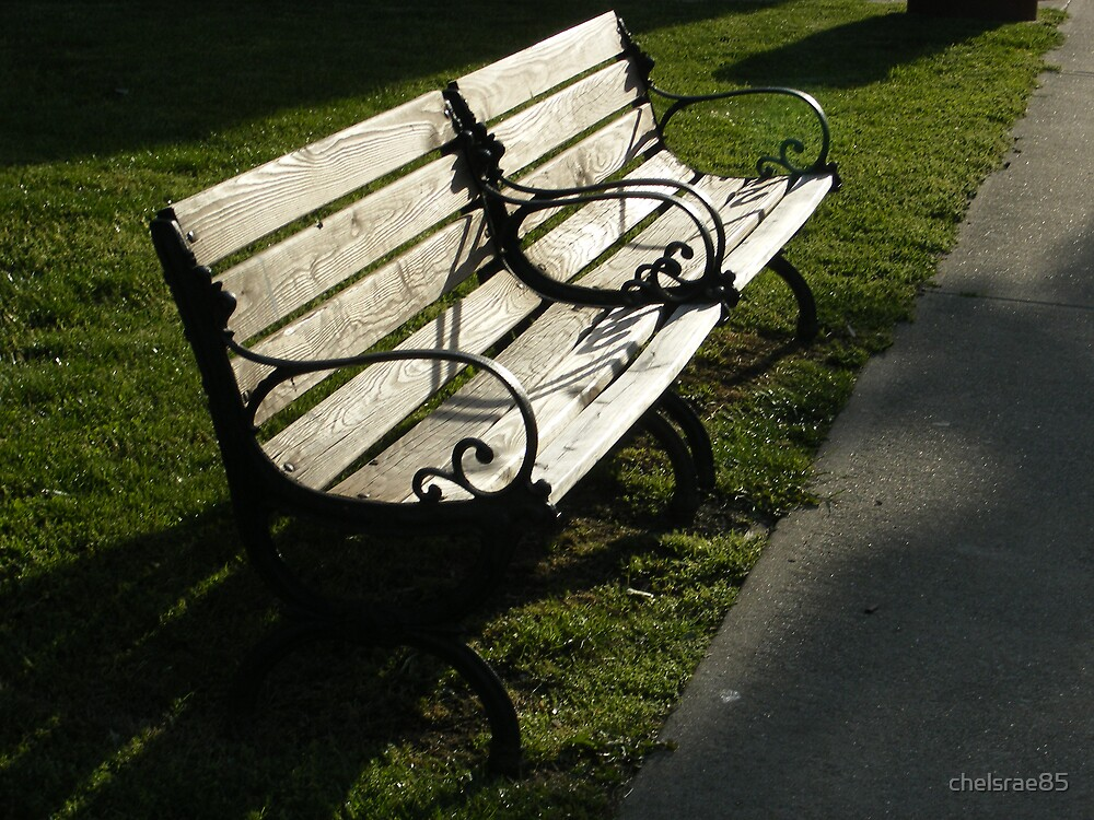 Sunset Park Bench by chelsrae85