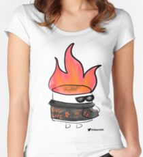 Badass Testing Marshmallow Women's Fitted Scoop T-Shirt