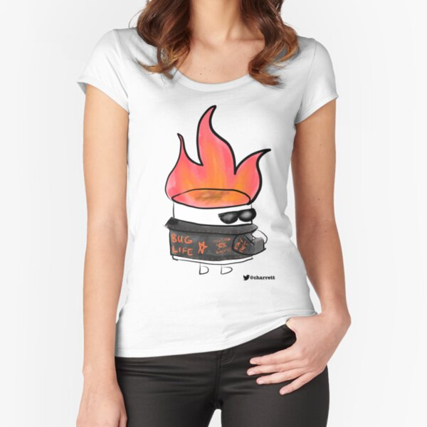 Badass Testing Marshmallow Fitted Scoop T-Shirt