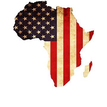 Africa Shirt Africa Continent American Flag Lover Shirt by Odettemon