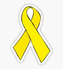 Yellow Awareness Ribbon Sticker