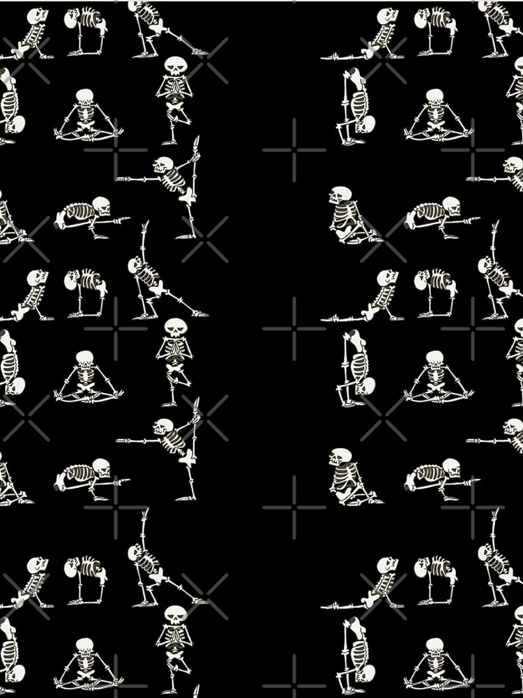 Skeleton Yoga by Huebucket