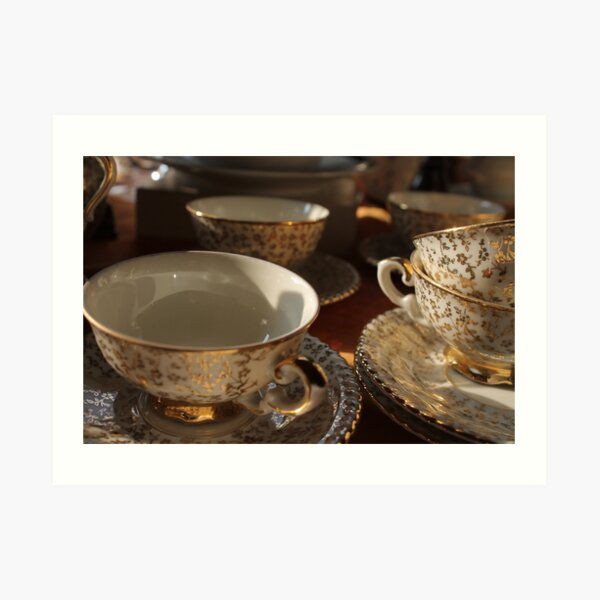 old pottery cup Art Print