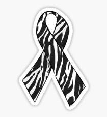 Zebra Awareness Ribbon Sticker