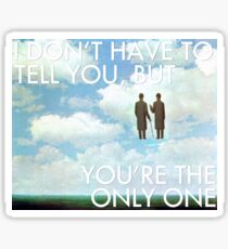 you make loving fun (magritte) Sticker