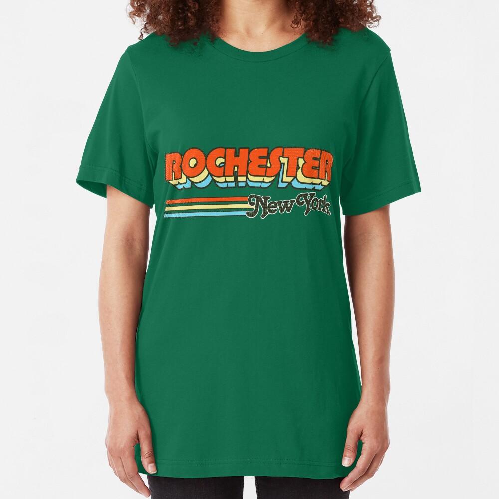 Rochester, NY | City Stripes Slim Fit T-Shirt