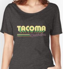 Tacoma, WA | City Stripes Women's Relaxed Fit T-Shirt