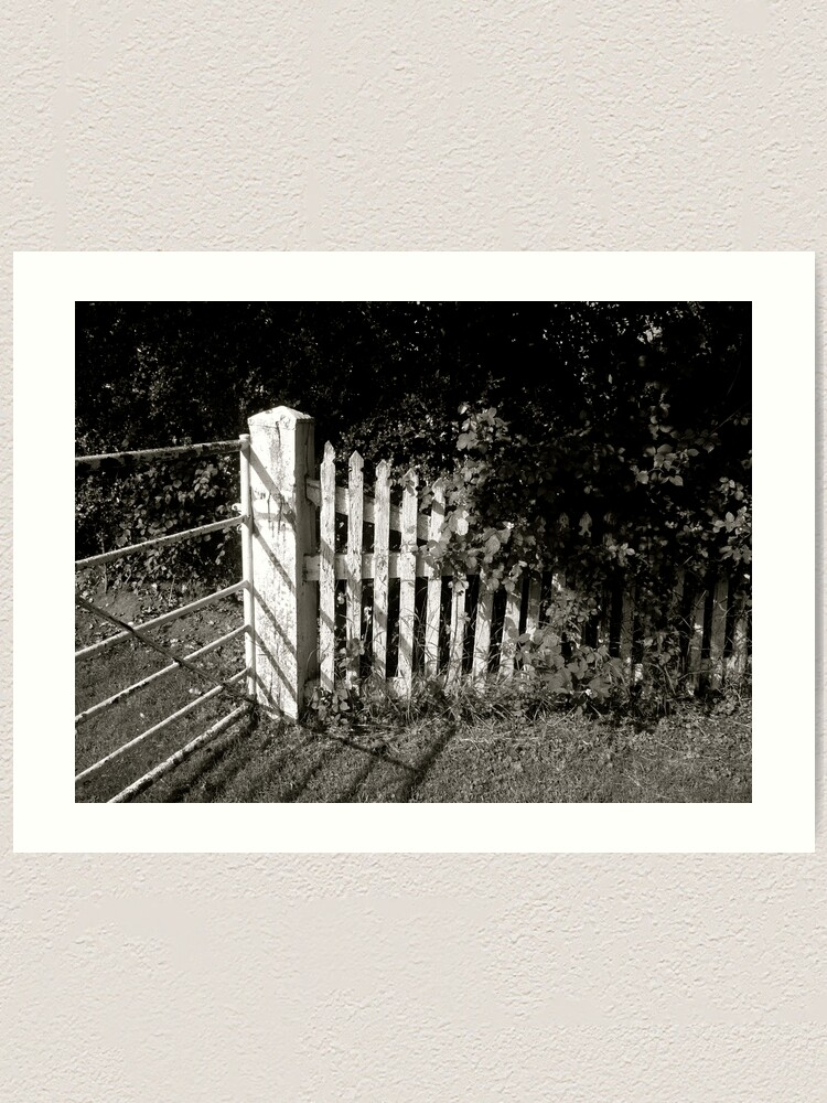 Alternate view of The Fence Art Print