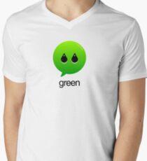 GREEN TYPOGRAPHY Mens V-Neck T-Shirt