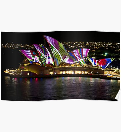 Peacock Sails - Sydney Vivid Festival - Sydney Opera House Poster