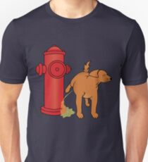 Dog Peeing on the Fire Hydrant T-Shirt