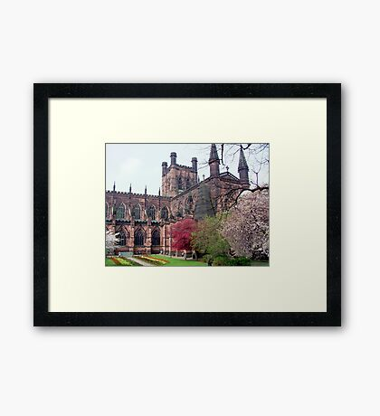 Chester Cathedral in Springtime Framed Print