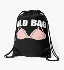 Womens Over The hill Grannie Bra Funny Gift For Grandma Drawstring Bag